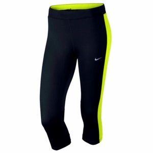 Nike Essential Running Capri Black Leggings